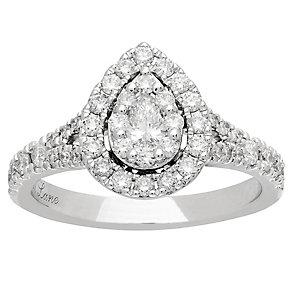 Neil Lane 14ct White Gold 0.81ct Diamond Pear Diamond Ring - Product number 4807235