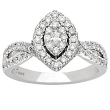 Neil Lane 14ct White Gold 0.66ct Diamond Halo Cluster Ring - Product number 4807596