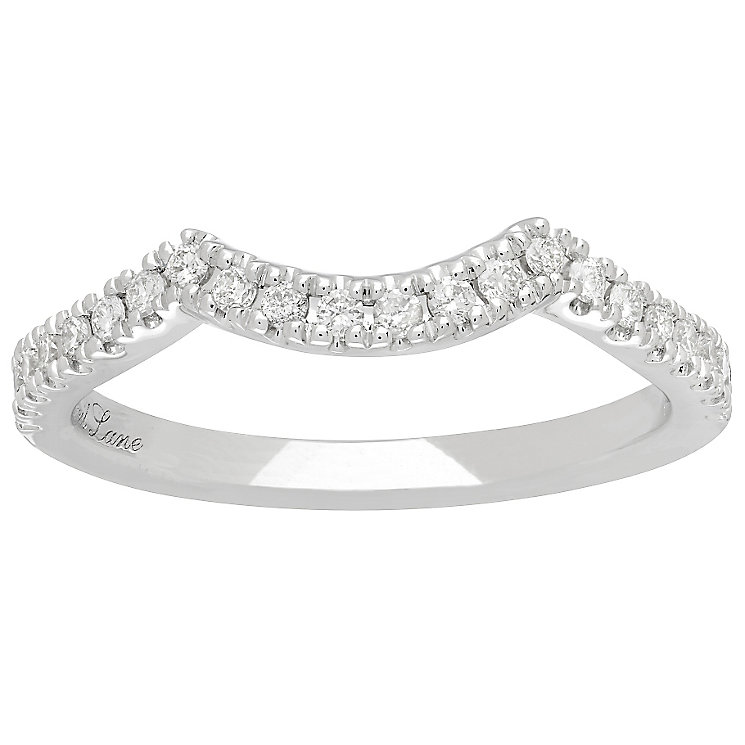 Neil Lane 14ct White Gold 0.20ct Diamond Shaped Band - Product number 4807758