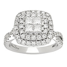 Neil Lane 14ct White Gold 1.65ct Diamond Double Halo Ring - Product number 4808177