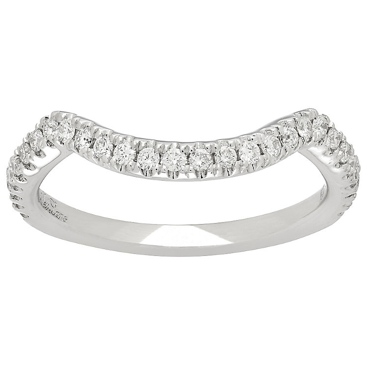 Neil Lane 14ct White Gold 0.29ct Diamond Shaped Wedding Band - Product number 4808304