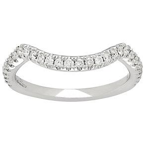 Neil Lane 14ct White Gold 0.29ct Diamond Shaped Wedding Band - Product number 4808304