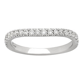 Neil Lane 14ct White Gold 0.37ct Diamond Shaped Band - Product number 4808606