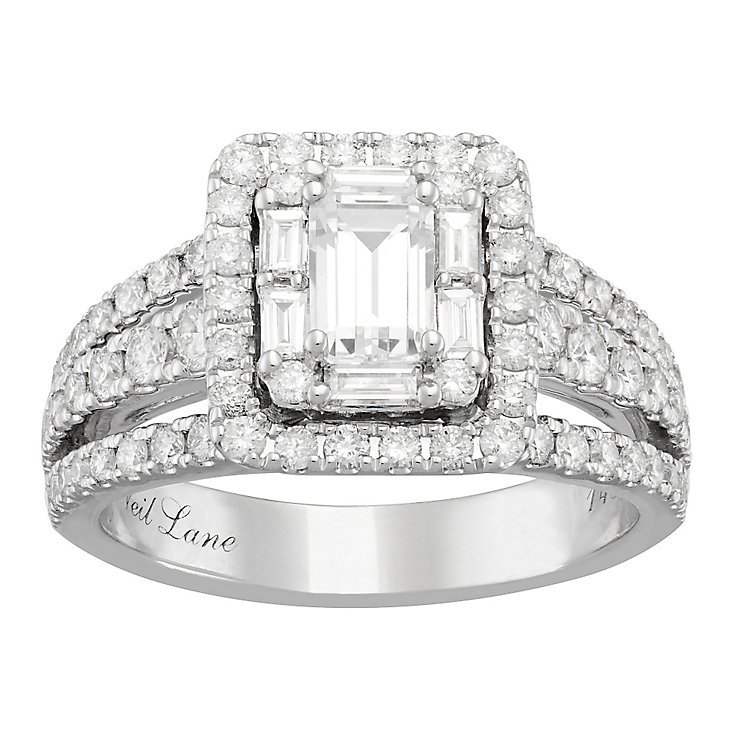 Neil Lane 14ct White Gold 1.74ct Diamond Halo Ring - Product number 4808746