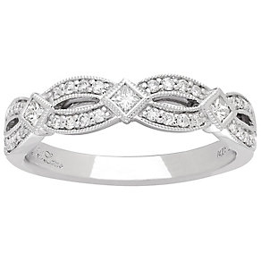 Neil Lane Designs 14ct White Gold 0.29ct Diamond Band - Product number 4808886