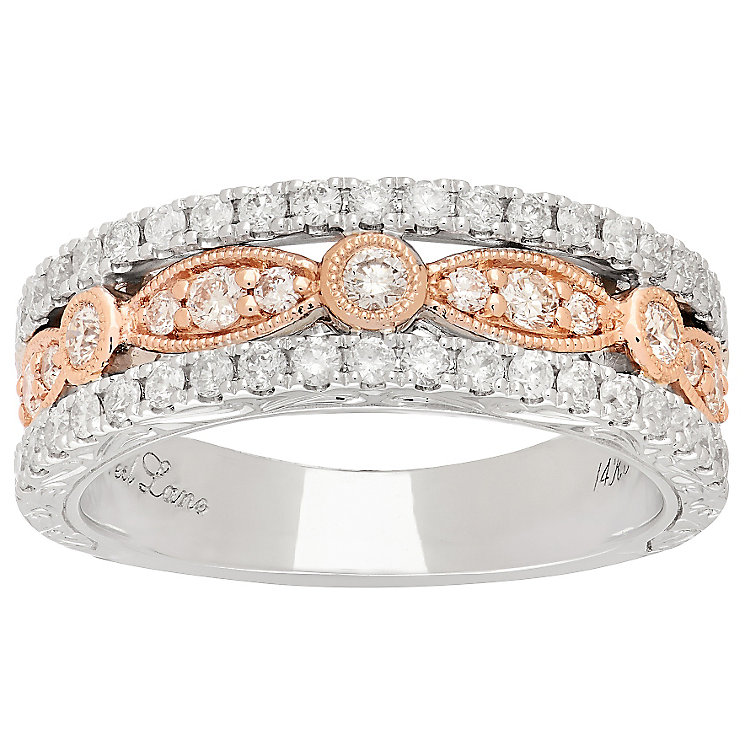 Neil Lane 14ct White Gold & Rose Gold Diamond Band - Product number 4809661