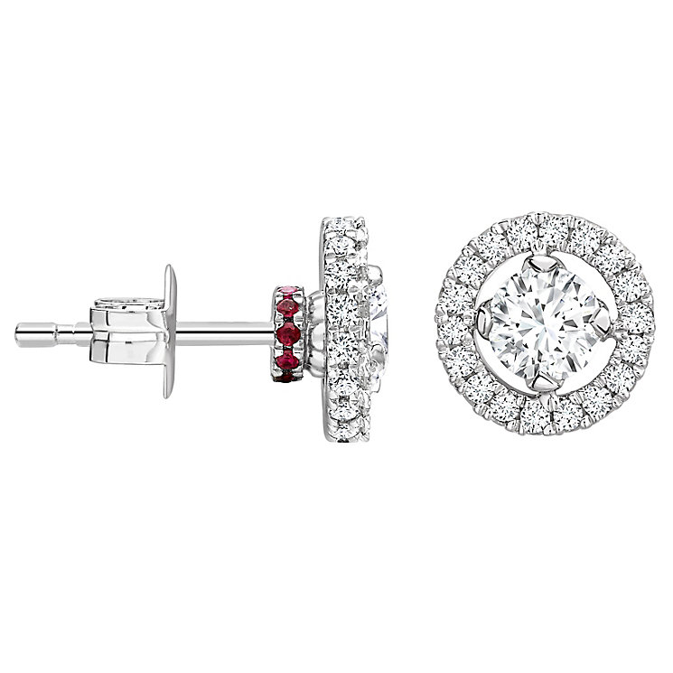 Jan Maarten Asscher 18ct White Gold 86pt Diamond Earrings - Product number 4811240