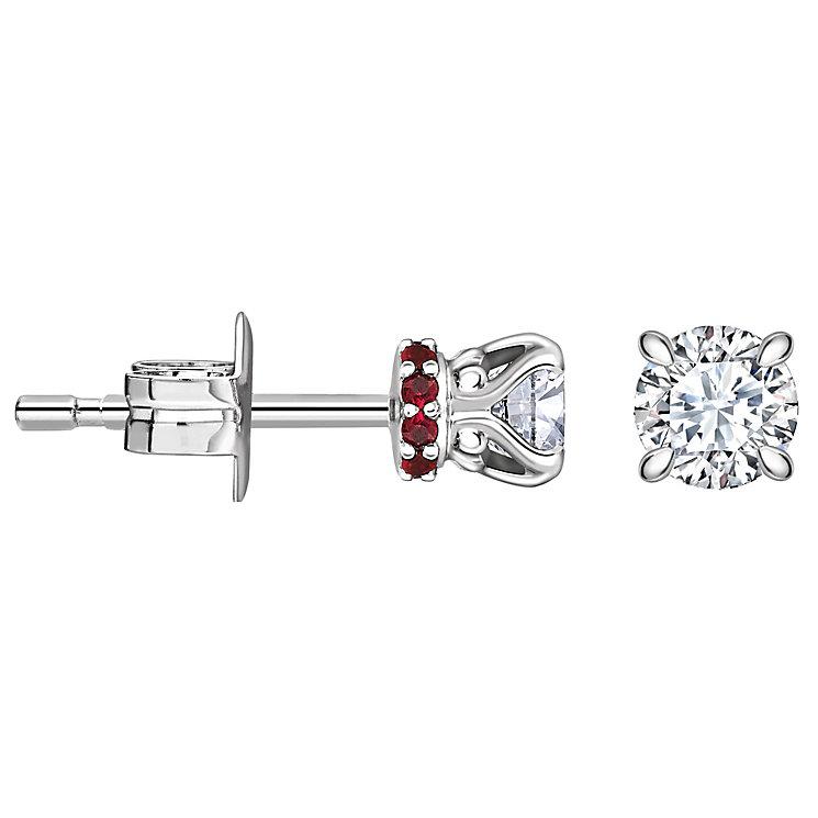 Jan Maarten Asscher 18ct White Gold 50pt Diamond Earrings - Product number 4811267