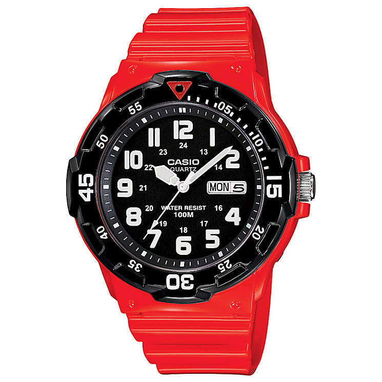 Casio Men's Red Resin Strap Watch - Product number 4811283