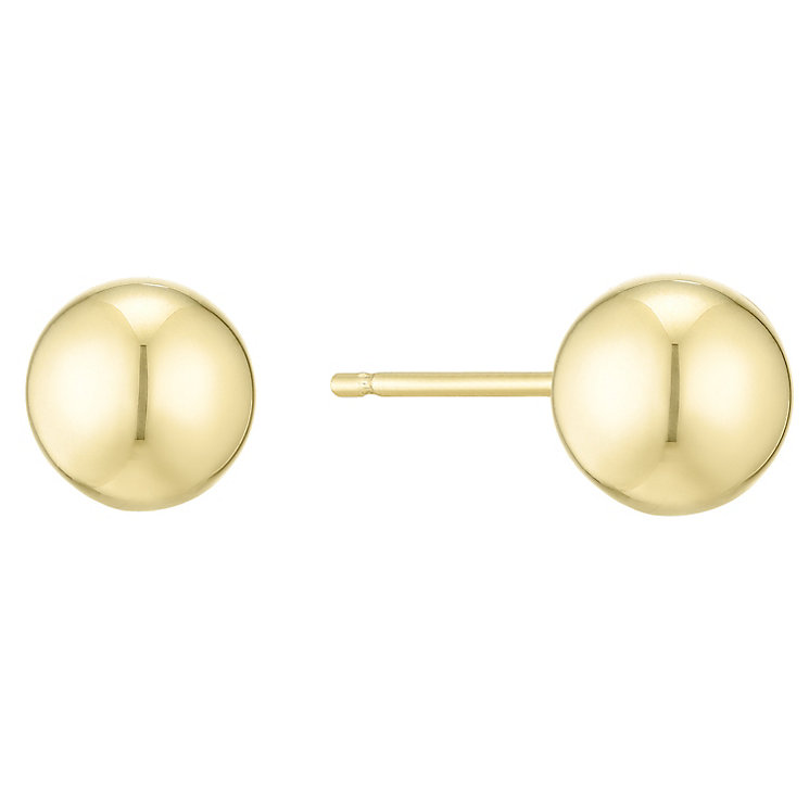 14ct Yellow Gold Ball Stud Earings - Product number 4811313