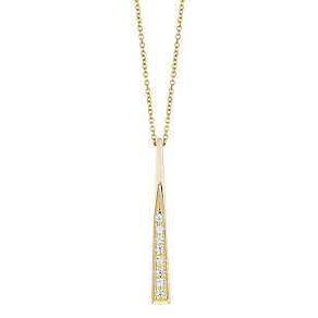 9ct Yellow Gold Cubic Zirconia Drop Pendant - Product number 4811607