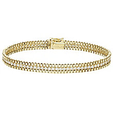 9ct Yellow Gold Cubic Zirconia Box Bracelet - Product number 4811674