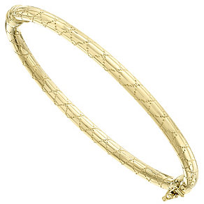 9ct Yellow Gold Chunky Crisscross Bangle - Product number 4811682