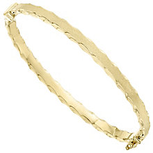 9ct Yellow Gold Satin Polish Texture Bangle - Product number 4811704
