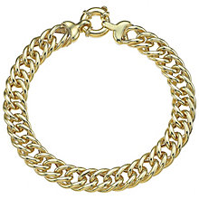 9ct Yellow Gold Heavy Curb Bracelet - Product number 4811712