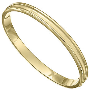 14ct Yellow Gold Chunky Ridged Bangle - Product number 4811739