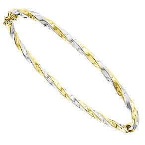 9ct Yellow Gold Even Twist Bangle - Product number 4811771