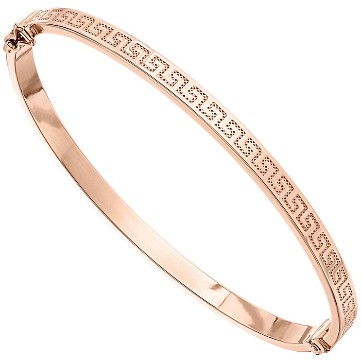 9ct Rose Gold Greek Key Bangle - Product number 4811844