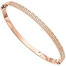 9ct Rose Gold Greek Key Bangle - Product number 4811844
