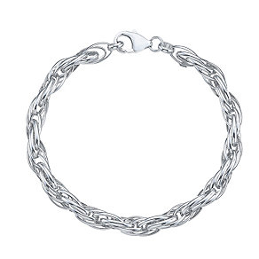 9ct White Gold Heavy Rope Bracelet - Product number 4811933