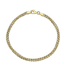 9ct Yellow Gold Light Spiga Bracelet - Product number 4811976