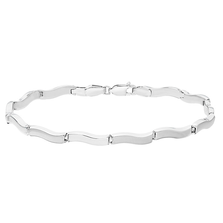 9ct White Gold Wave Bracelet - Product number 4811992