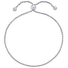 9ct White Gold Adjustable Ball Bracelet - Product number 4812387