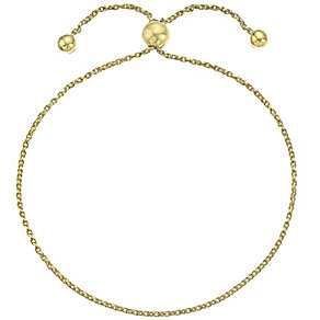 9ct Yellow Gold Adjustable Ball Bracelet - Product number 4812492