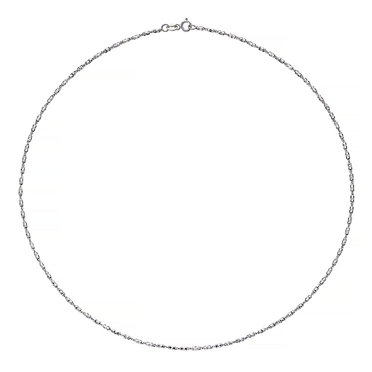 9ct White Gold Bead Necklet - Product number 4812530