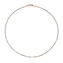 9ct Rose Gold Rhodium Bead Necklet - Product number 4813081