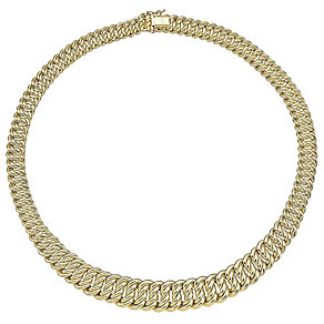 9ct Yellow Gold Heavy Fancy Link Grad Collar - Product number 4813103
