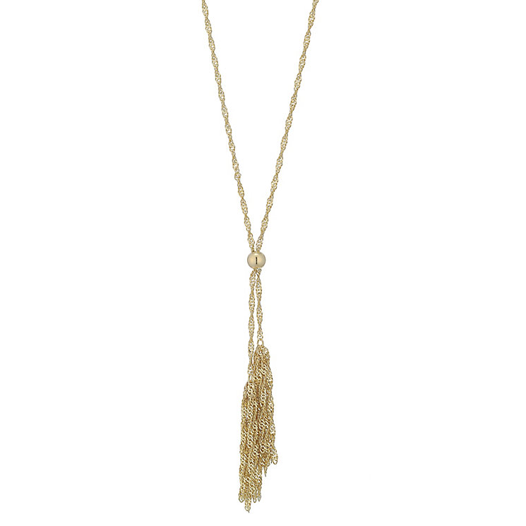 9ct Yellow Gold Double Tassel Necklet - Product number 4813154