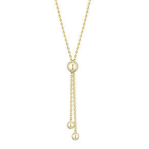 9ct Yellow Gold Adjustable Ball Necklet - Product number 4813219