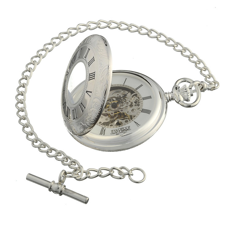 J.Pierre half hunter half skeleton fob watch - Product number 4815688