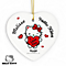 Personalised Hello Kitty I love You Ceramic Heart Decoration - Product number 4816897