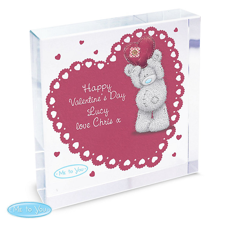 Personalised Me To You Heart Large Crystal Token - Product number 4816927