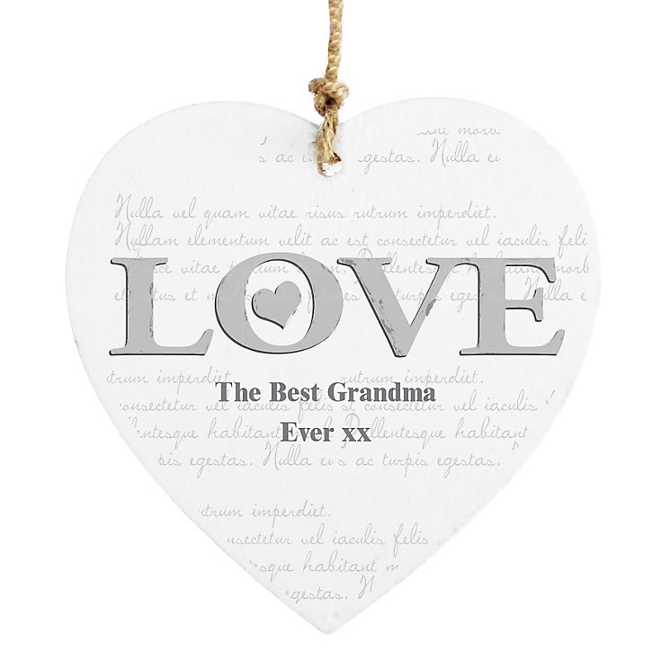 Personalised LOVE Wooden Heart Decoration - Product number 4817060
