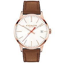 Coach Men's Rose Gold tone Strap Watch - Product number 4819675
