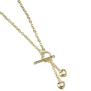 9ct Gold Double Heart Necklace