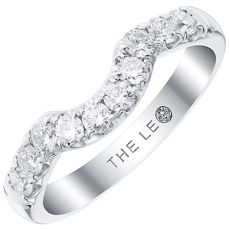 Leo Diamond 18ct White Gold 0.50ct Diamond Shaped Band - Product number 4821092