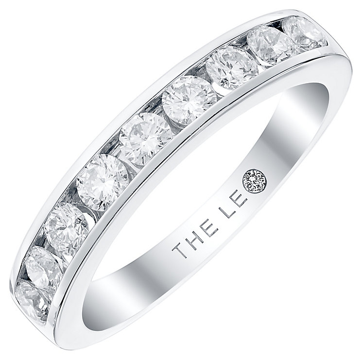 Leo Diamond 18ct White Gold 0.75ct 9 Stone Band - Product number 4822463