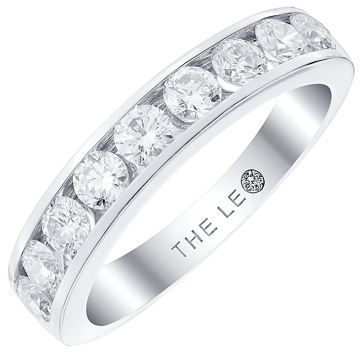 Leo Diamond 18ct White Gold 1ct 9 Stone Band - Product number 4822609