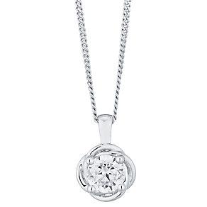 Leo Diamond 18ct White Gold 0.50ct Diamond Pendant - Product number 4822986