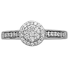 18ct White Gold 0.33ct Diamond Halo Ring - Product number 4824601