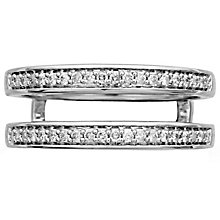 18ct White Gold 0.20ct Double Band - Product number 4824962