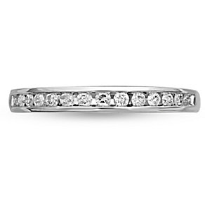 18ct White Gold 0.20ct Diamond Band - Product number 4825241