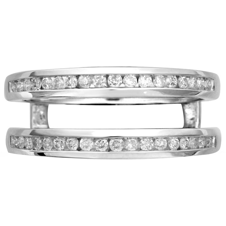 18ct White Gold 0.30ct Diamond Double Band - Product number 4825403