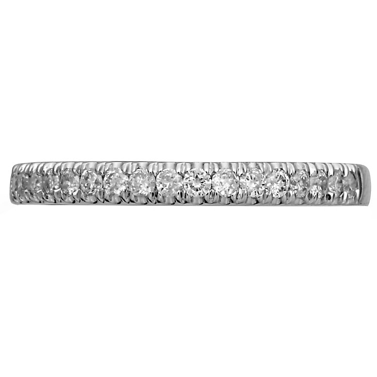 18ct White Gold 0.20ct Diamond Band - Product number 4826159