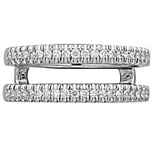 18ct White Gold 0.30ct Diamond Double Band - Product number 4826299