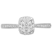 Love Cut 18ct White gold 0.40ct Cushion Shaped Halo Ring - Product number 4827635